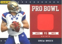 2011 Panini Black Friday Drew Brees Pro Bowl Pylon