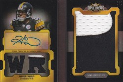 2011 Topps Triple Threads Hines Ward Jumbo Patch Auto
