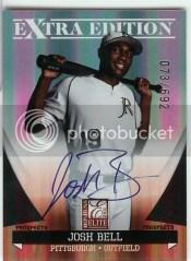 2011 Donruss Elite Josh Bell Autograph /692