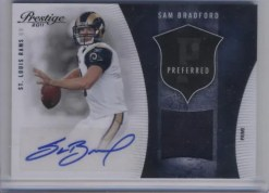 2011 Prestige Sam Bradford Jersey Auto Preferred