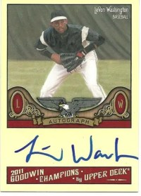 2011 Goodwin Champions LeVon Washington Autograph