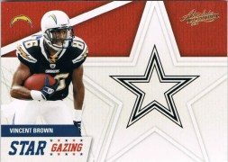 2011 Panini Absolute Vincent Brown Star Gazing Insert