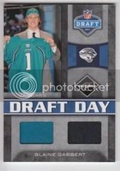 2011 Panini Limited Blaine Gabbert Dual Draft Day Combo