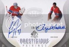 2010-11 Sp Authentic Prestigious Pairings Dual Autograph