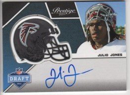 2011 Panini Prestige Julio Jones Helmet Autograph Rookie Card