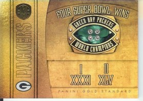 2011 Panini Gold Standard Super Bowl Rings Green Bay Packers