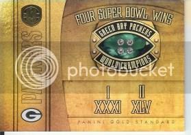 2011 Panini Gold Standard Super Bowl Rings Green Bay Packers