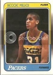 1988-89 Fleer Reggie Miller Rookie RC Card