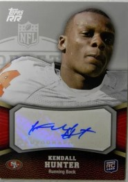 2011 Topps Rising Rookies Kendall Hunter Autograph Rookie