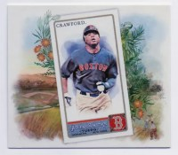 2011 Topps Allen Ginter Carl Crawford N43 Box Topper