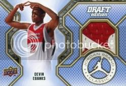2010-11 Devin Ebanks Jordan Classic Jersey Card