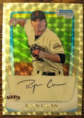 2011 Bowman Chrome Ryan Cavan Superfractor Refractor 1/1