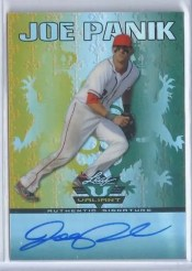 2011 Leaf Valiant Baseball Joe Panik Autograph