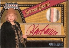 2011 Panini Americana Screen Gems Piper Laurie Autograph