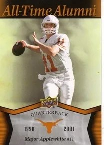 2011 Upper Deck All-Time Alumni Texas Longhorns Major Applewhite