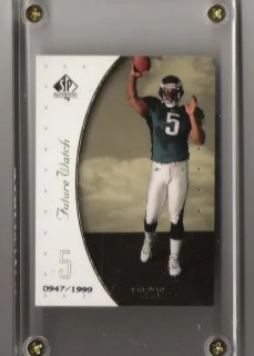1999 Upper Deck SP Authentic Donovan McNabb RC Card