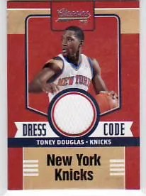 2010-11 Panini Classics Toney Douglas Dress Code Jersey Card