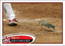 2012 Topps Series 1 Skip Schumaker Rally Squirrel