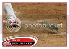 2012 Topps Series 1 Skip Schumaker Rally Squirrel