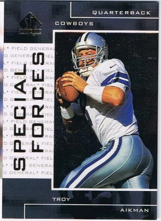 1998 Upper Deck SP Authentic Troy Aikman Special Forces Insert Card