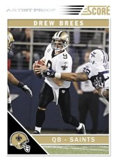 2011 Score Football Drew Brees Artist Proof Parallel Card