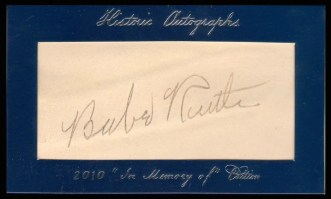 2011 Historic Autographs Babe Ruth Cut Signature