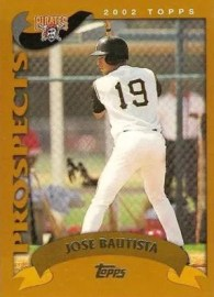 2002 Topps Traded Jose Bautista card # T180