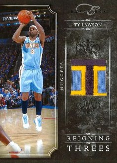 2010-11 Panini Black Box Ty Lawson Reigning 3's Prime Jersey Card #/49