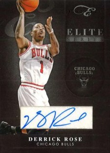 2010-11 Panini Elite Black Box Series Derrick Rose Autograph Card