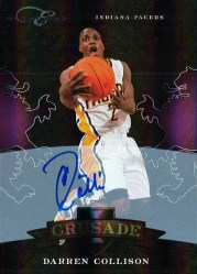 2010-11 Panini Black Box Crusade Darren Collison Autograph Card