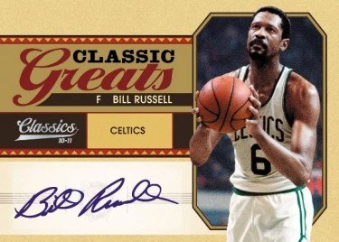 2010/11 Panini Classics Greats Bill Russell Autograph Card