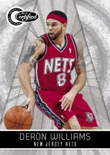10-11 Certified Deron Williams Nets Panini Card