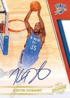 2010-11 Panini Season Update Kevin Durant Autograph Card