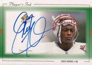 1999 Upper Deck SP Authentic Players Ink EG-A Eddie George Card