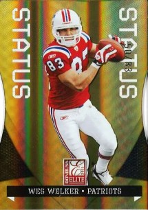 2011 Donruss Elite Wes Welker Status Parallel #50/83
