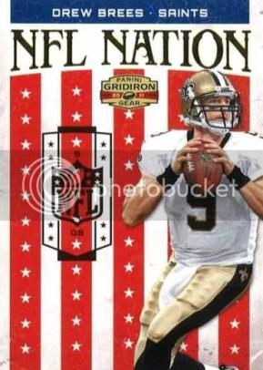 2011 Panini Gridiron Gear NFL Nation Drew Brees Insert Card