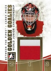 2010/11 ITG Between The Pipes Golden Goalies Carey Price Jersey Card