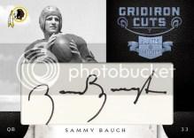 2011 Panini Plates & Patches Sammy Baugh Cut Signature
