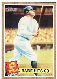 2011 Topps Heritage Babe Ruth Hits 60 HR