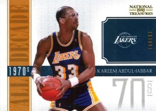 10-11 Panini National Treasures Kareem Abdul-Jabbar All Decade Insert Card