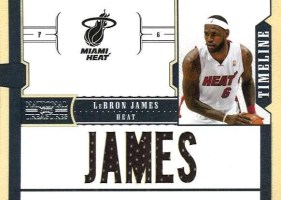 2010-11 Panini National Treasures LeBron James Player Name Jersey Card