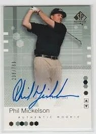 2002 Upper Deck SP Authentic Phil Mickelson Autograph RC Rookie Card
