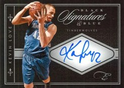 2010-11 Elite Black Box Kevin Love Blue Autograph