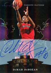 2010-11 Panini Elite Black Box DeMar DeRozan Autograph Crusade