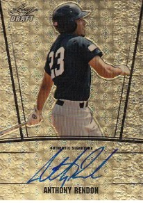 2011 Leaf Metal Draft Anthony Rendon Gold Autograph