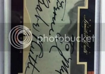2011 Donruss Limited Cuts Babe Ruth Cut Autograph Card