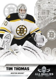 2010-11 Panin All Goalies Tim Thomas Parallel