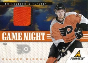 2011-12 Pinnacle Game Night Prime Jersey Claude Giroux Card