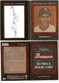 2011 Bowman Phil Rizzuto Buy Back Cut Autograph Book