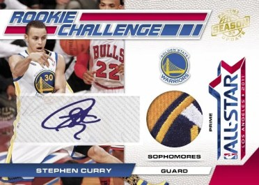 2010-11 Panini Season Update RC Challenge Stephen Curry Autograph Jersey Card